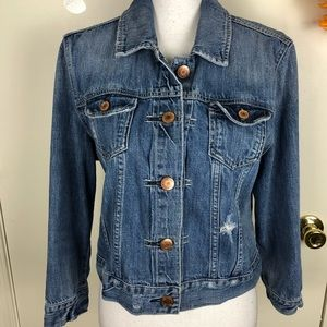 AEO DISTRESSED JEAN JACKET 2 POCKETS BUTTONED XL